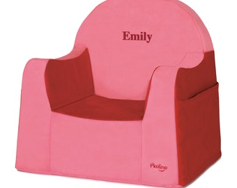 P'kolino Personalized New Little Reader Chair- Red (add name to be personalized in Notes)