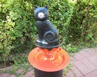 Halloween Black Cat Centerpiece / Totem / Server