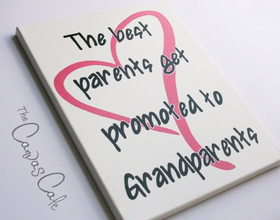 Baby Gifts For New Grandparents : Items similar to new grandparents quote with pink heart