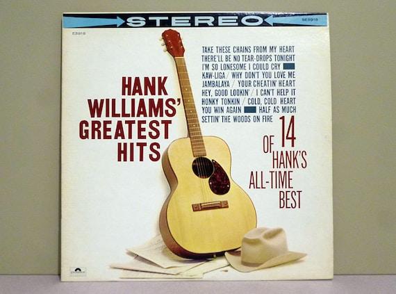 Hank Williams Greatest Hits Vinyl Record Lp Album By Acesvinyl