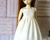 Cream lace sundress for Slim MSD and similar sized dolls