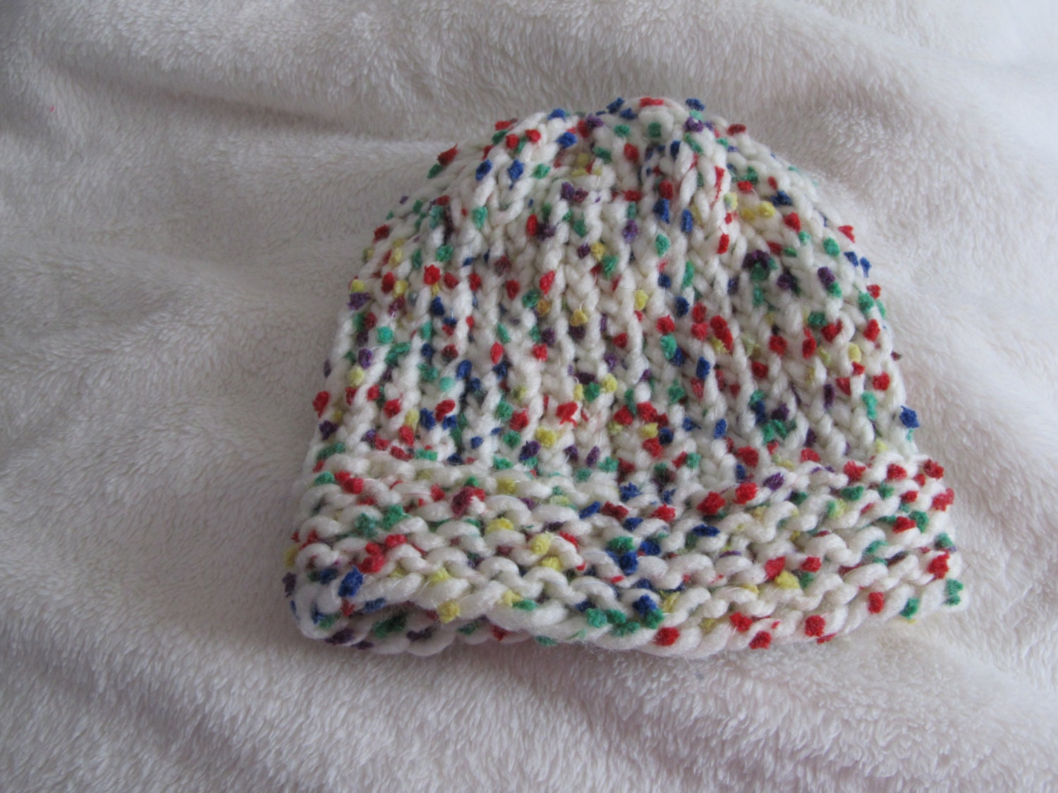 Loom Knit Baby Hat With Brim : Handmade loom knit baby toddler hat