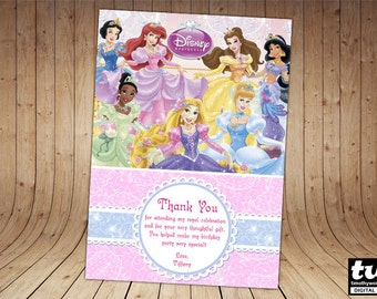 Disney Princess Thank you card