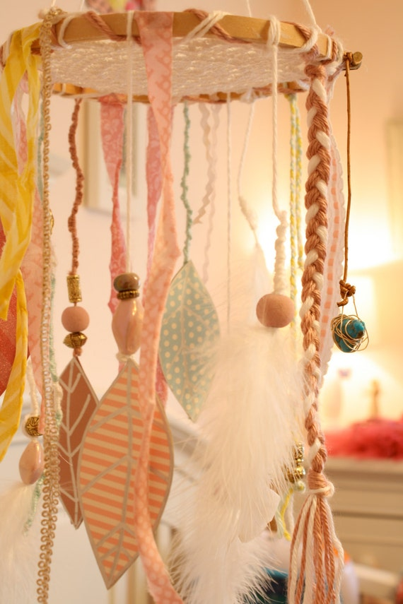 Dream Catcher Shabby Chic Baby Mobile