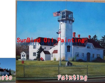 Custom original oil portrait painting,house portrait oil painting from photo,villa portrait,landscape portrait,home building,One Figure