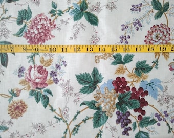 "51"" L Waverly ""Holiday"" Fabric 54.5"" W - Rich Floral"