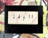 Nancy Curry Art  hand-lettered idyll rubber stamp