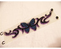 Instant Download Beading Pattern Peyote Stitch Bracelet Butterfly Tattoo Seed Bead Cuff