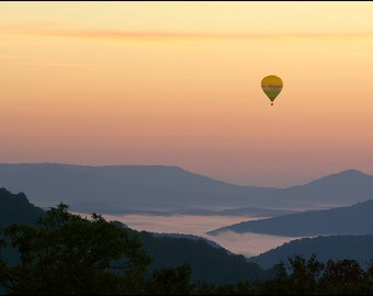 Nature Photography - Hot Air Balloon, Sunrise, Buffalo River, Fine Art, Arkansas