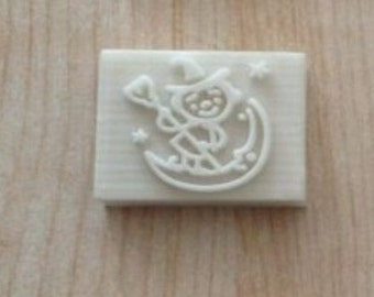 Little Witch Resin Seal Soap Stamp For Handmade Soap Candle Fimo Crafts DIY Chapter Soap