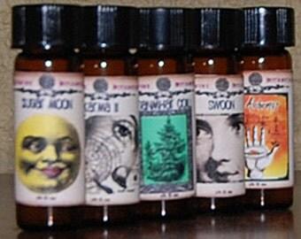 "All Natural Perfume Oil - ""Sugar Moon"" - Bergamot, Coriander, Cognac, Davana, Vanilla"