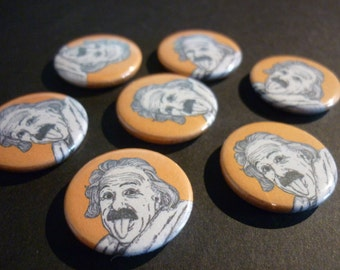 "Albert Einstein Handmade 1"" Button Badge"