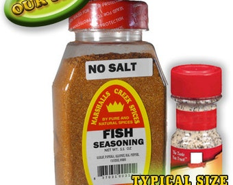 FISH Seasoning No Salt 11 oz, one price shipping, any quantity, any assortment