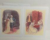 Pride and Prejudice-Elizabeth and Jane-Pair of blank cards-Jane Austen