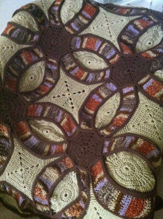 Crochet Double Wedding Ring Afghan Pattern Double Wedding Ring Afghan