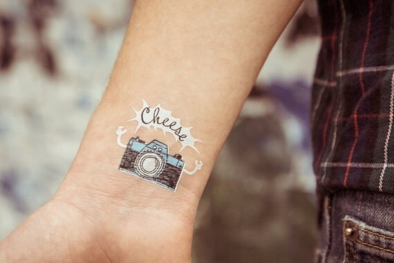 Temporary tattoo camera for Wash off temporary tattoos