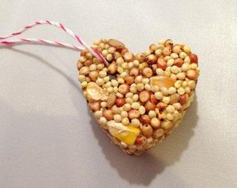 12 Bird Seed Heart Shaped Favor MINI- Wedding and Events - bird seed favor