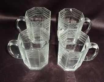 Vintage GLCOLOC Art-Deco Mugs