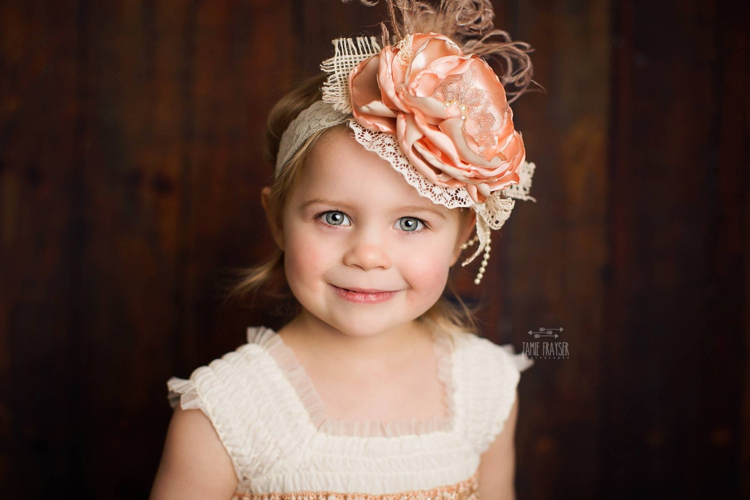 Toddler Headband Flower girl headbands flower by JLexiJolie