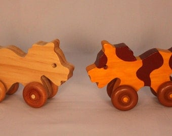 Wooden Toy Horse - Child Safe, Handcrafted from Reclaimed Wood, Eco-friendly by GiggleTree Toys