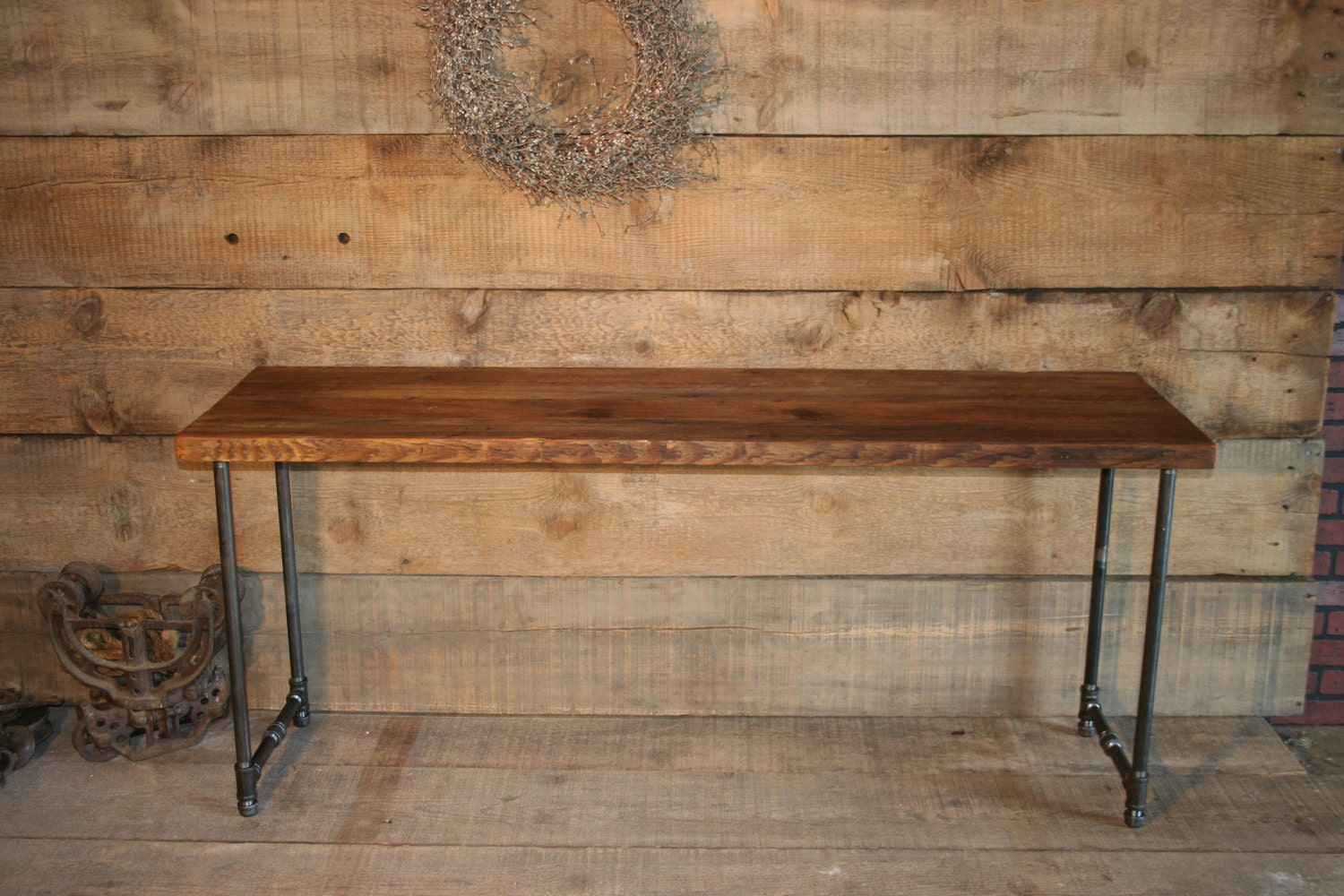 Salvaged Wood Media Stand Industrial by UrbanWoodFurnishings
