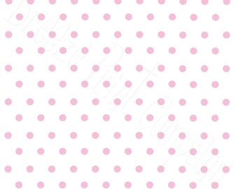 White with light pink polka dots craft  vinyl sheet - HTV or Adhesive Vinyl -  polka dot pattern   HTV24