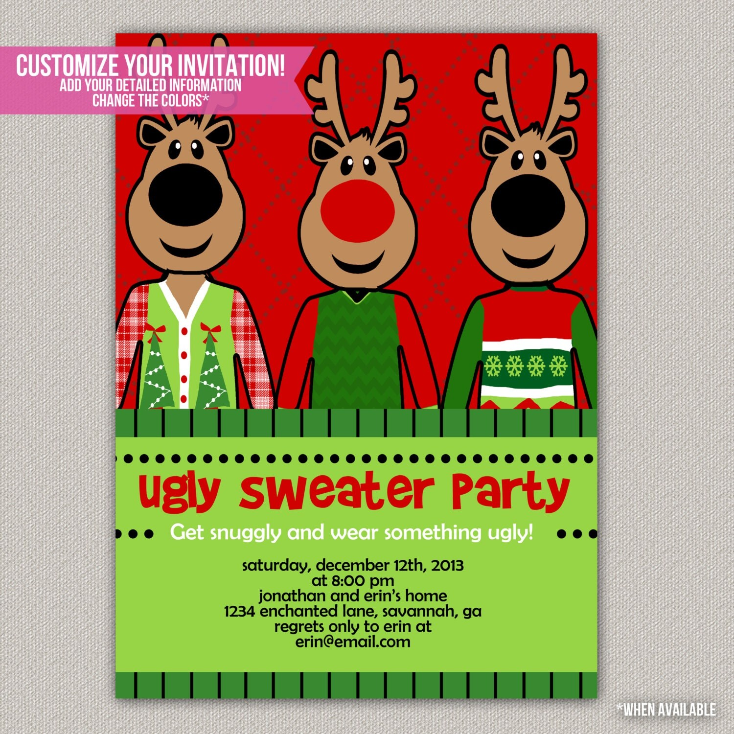 Ugly Christmas Party Sweaters: Ugly Sweater Party Tacky Sweater Christmas By