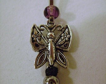 Come Fly Away Butterfly Zipper Pull