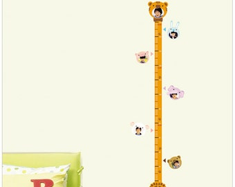 Wall  Point Art Decor Mural Sticker : Animal Growth Chart, Photo, (Measurements are given in centimeters, not inches)