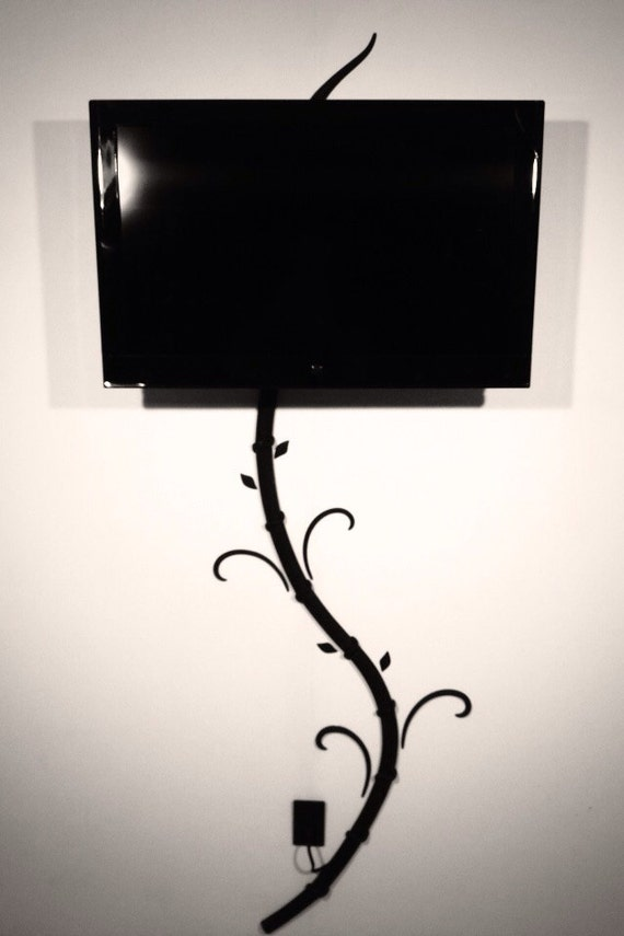 hide tv and digital picture frame cords without by genixcreations. Black Bedroom Furniture Sets. Home Design Ideas