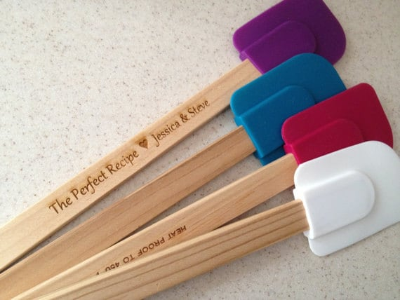 Wedding Gag Gift: Engraved Wooden Spatula Personalized Gag Gift By Pishposhparty