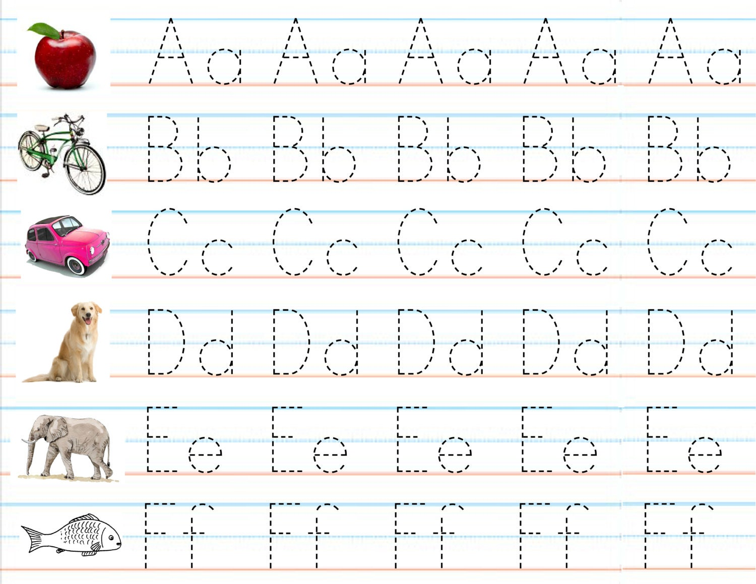 Abc sheets for preschool - Handwriting Practice Sheets Laptuoso