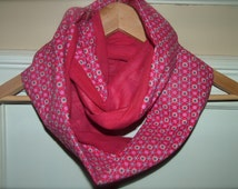 Kids Infinity Scarf Two Toned (Solid/Print combo) ** More color combinations available **
