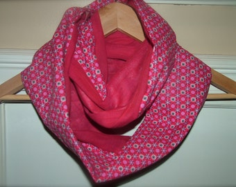 Kids Infinity Scarf Two Toned Solid Print Combo More Color Combinations