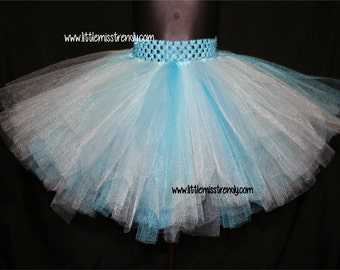 Frozen Tutu Skirt, Aqua Blue, Turquoise and Light Blue Tutu Skirts, Children's Tutu Skirts, Newborn to 6T Tutus, Frozen Tutu, Elsa Tutu