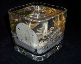 Seascape Square Votive Forever Candle