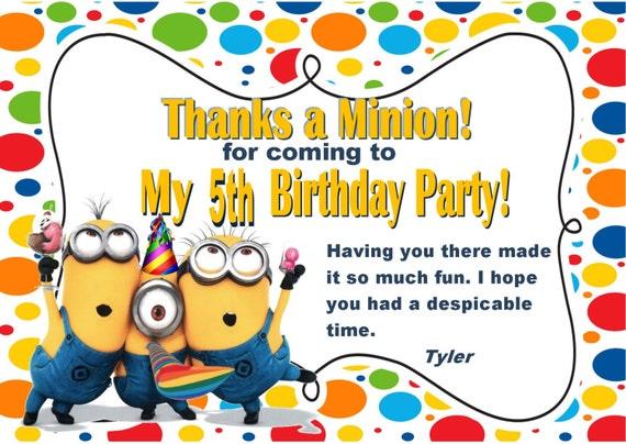 Minion Invites with great invitation template