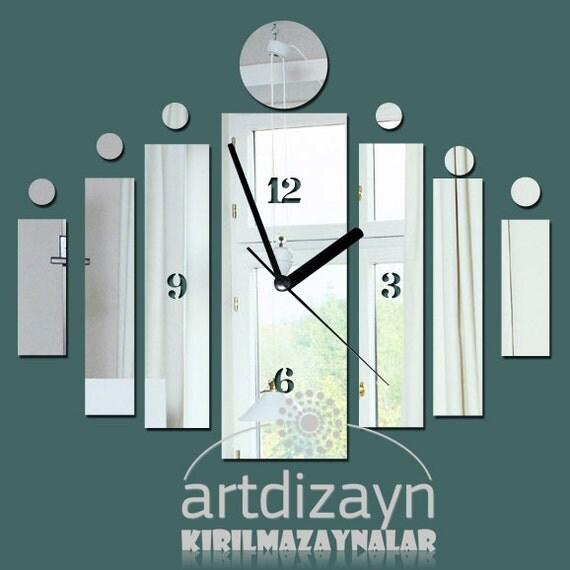Wall Design Square : Decorative wall clock square design silver by