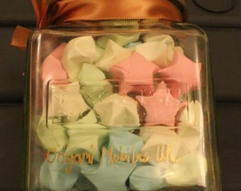 Jar of Origami Lucky Stars