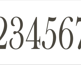 Number **Reusable STENCIL** Bask007 / Numbers 0-9 - 7 sizes