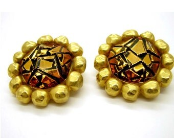 GIVENCHY , vintage back clip earrings