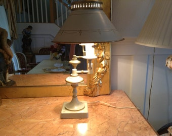 Ivory Colonial Metal Desk Lamp