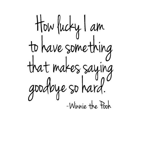 Pooh Quote About Saying Goodbye: Items Similar To Winnie The Pooh Vinyl Wall Quote