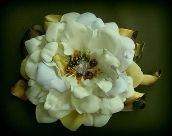 Handmade satin flower brooch flower clip & pin