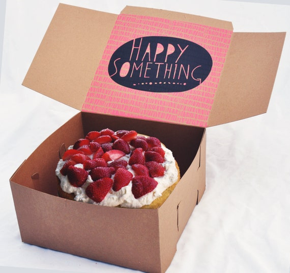 Christmas Cake Packaging Ideas : Items similar to Screen-Printed Cake Boxes on Etsy