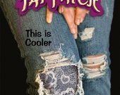 Blue lace Tat Patch for the tragically hip. Easy to repair your ripped jeans!