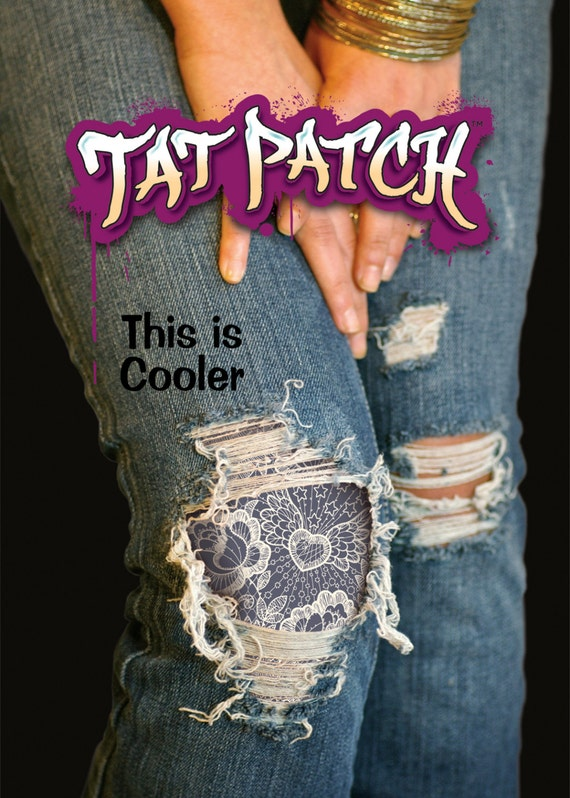how to add patches to jeans