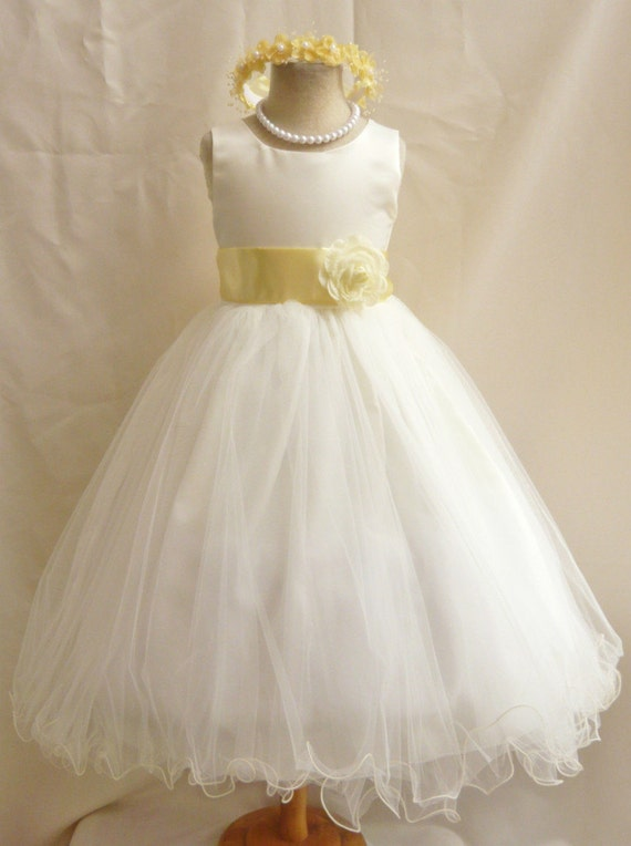 Yellow Springtime Flower Girl Dresses 55