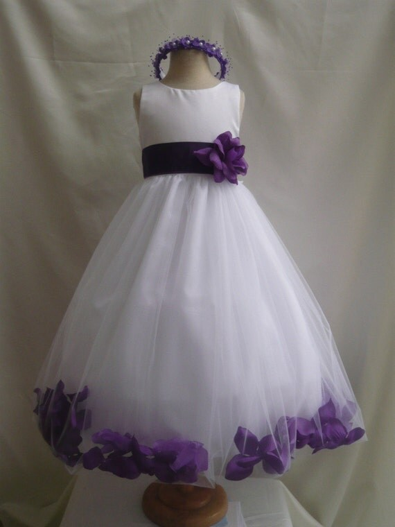 Flower Girl Dresses In Purple And White 40