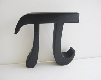 3D Printed Wall Hanging Pi Symbol Math Geometry Geekery Circle Font Teacher Desk Decoration Greek Letters Science Engineer 3-D Print